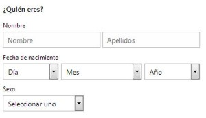 datos personales hotmail